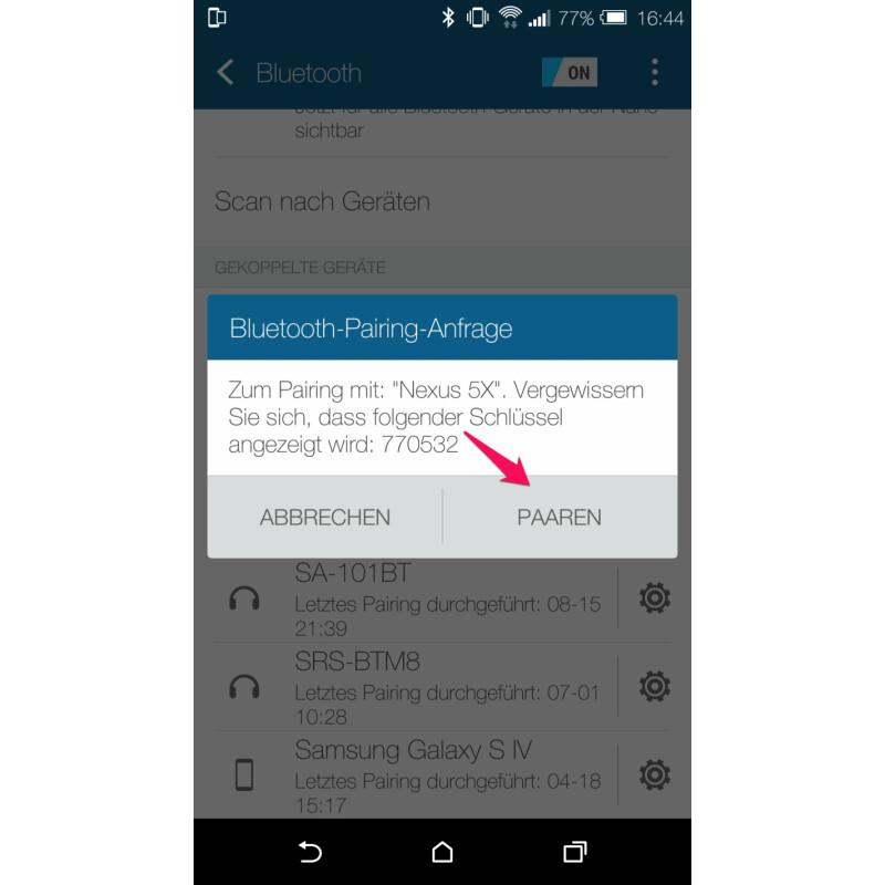per bluetooth auf anderes handy zugreifen android