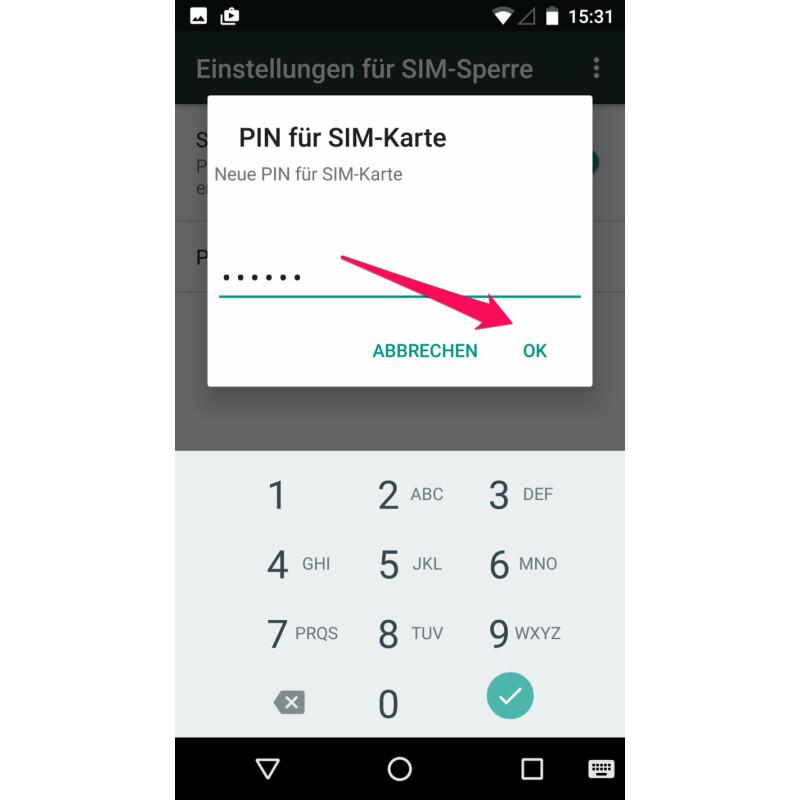 Pin Der Sim Karte ändern.Android So ändert Ihr Den Pin Euer Sim Karte Netzwelt