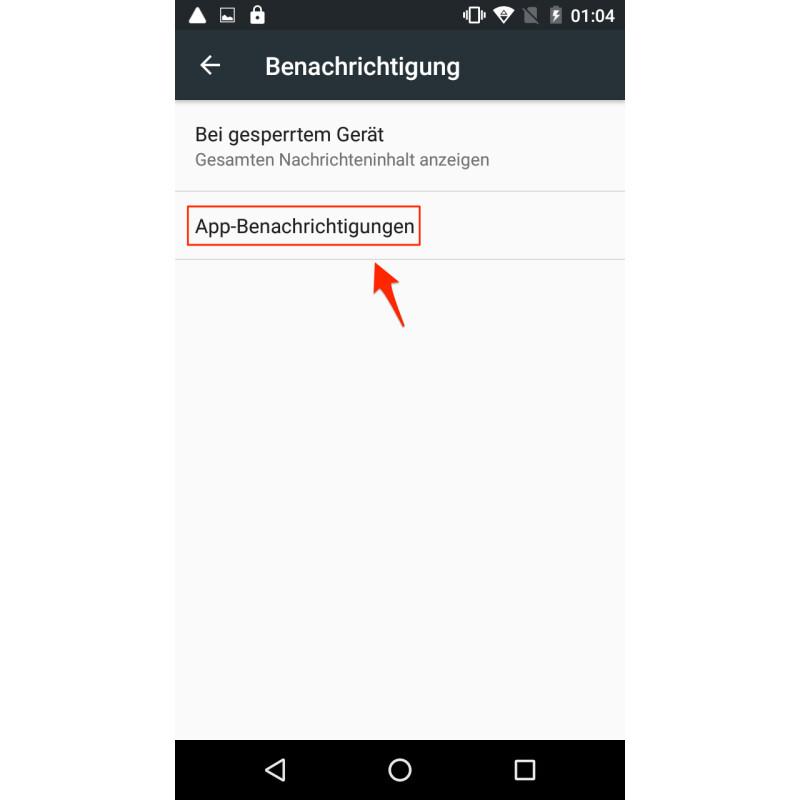 benachrichtigungen anzeigen android