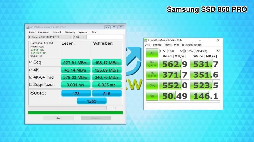 Samsung 860 Evo und Pro im Test: So schlägt sich die neue
