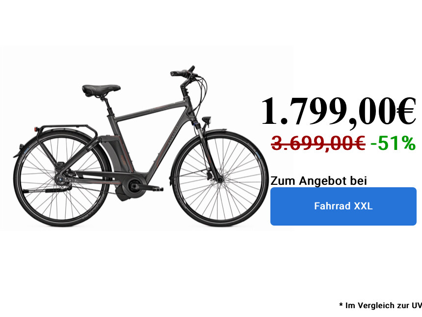 Kalkhoff includes Premium I8 on XXL bikes