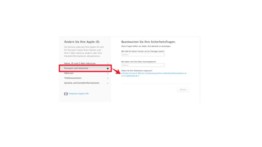 amazon passwort vergessen sicherheitsfrage