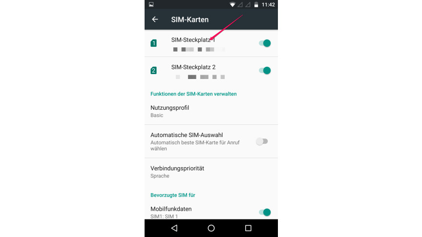 1 1 Sim Karte Aktivieren.Android So Konfiguriert Ihr Euer Dual Sim Smartphone Netzwelt