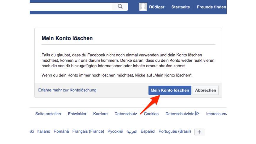 facebook account gelöscht trotzdem sichtbar