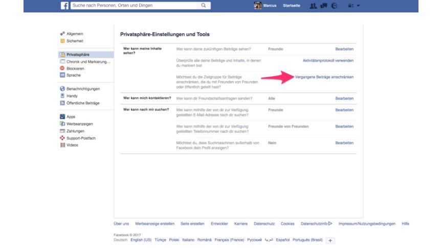 facebook nachrichten einstellungen ändern