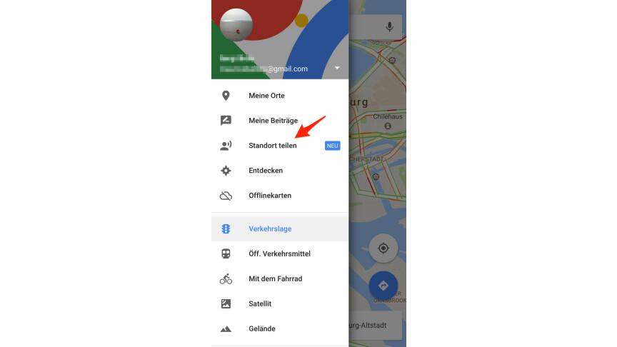 Google Standort Freigeben
