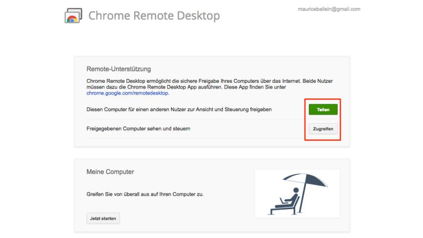 Chrome Remote Desktop: So steuert ihr den Rechner fern