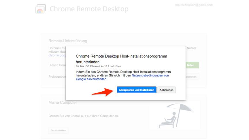 Chrome Installationsdatei