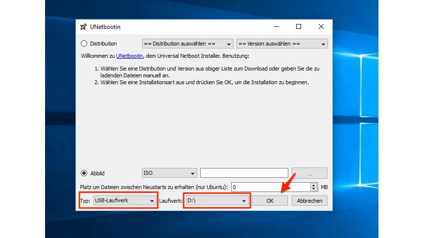 Windows 10: So erstellt ihr einen bootfähigen USB-Stick