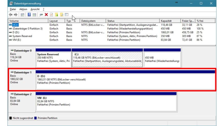 Windows 10 Partitionen Verkleinern Und Neu Erstellen So