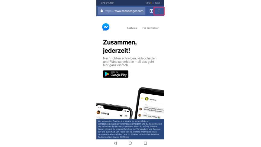 Facebook Messenger Ohne App