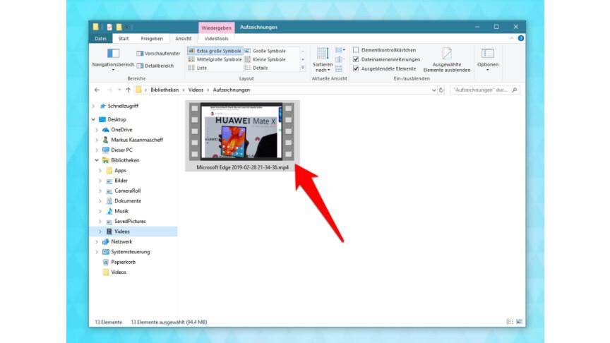 Windows 10: So nutzt ihr den integrierten Screen Recorder