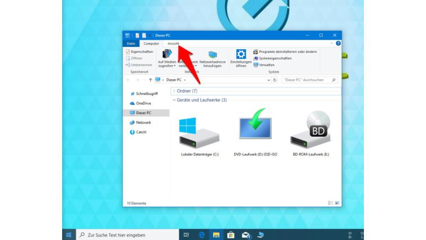 Windows 10 Arbeitsplatz