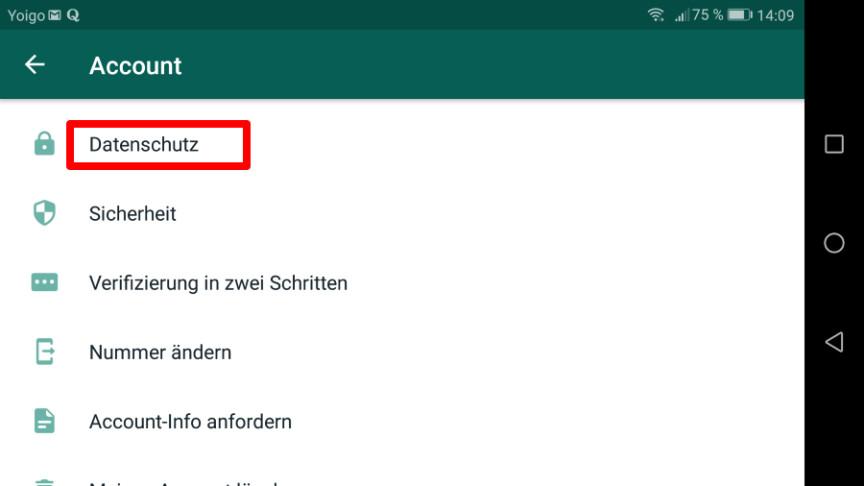 Whatsapp Status Einschränken
