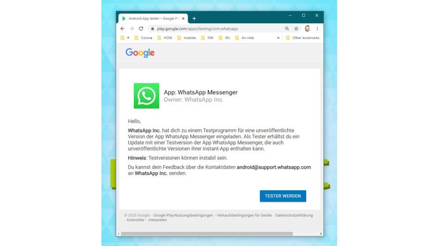 01.1 WhatsApp: conviértase en un beta tester
