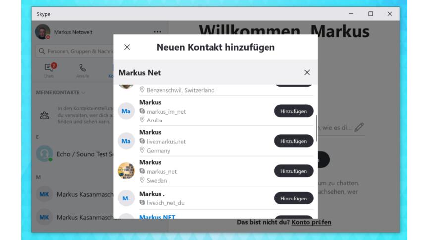 Skype: Personen suchen und Kontakte hinzufügen - So geht´s