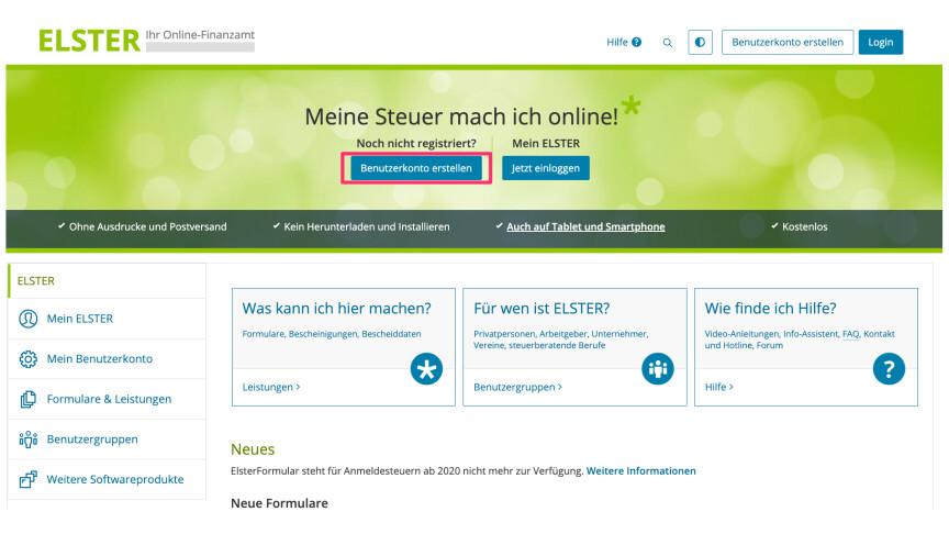 Mein Elster: So registriert ihr euch per Zertifikatsdatei