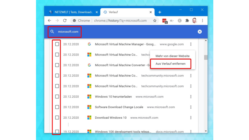 Chrome Formular Vorschläge Löschen