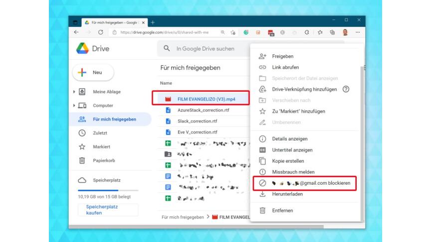01.1 Google Drive: Bloquear usuarios