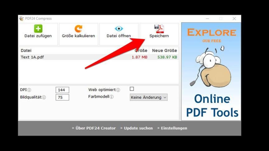 PDF24 Creator: So könnt ihr PDFs verkleinern - NETZWELT
