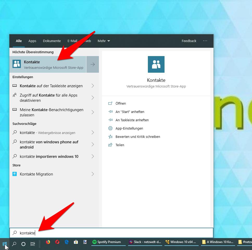 Windows 10: Kontakte sicher importieren - so geht's