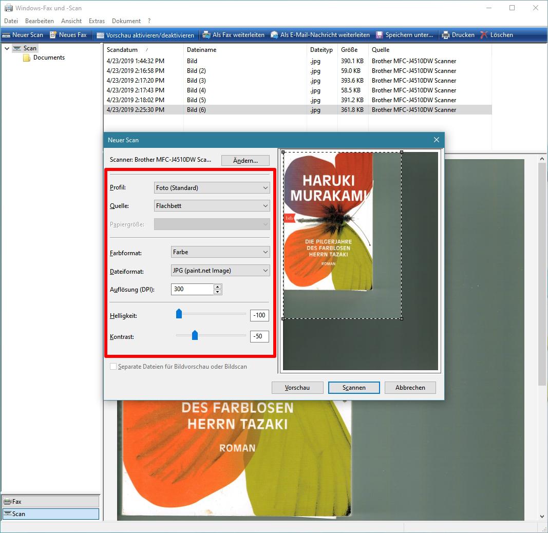 Dokument Scannen Windows 10
